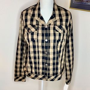 NWT Foxcroft Long Sleeve  Button Down Plaid Shirt